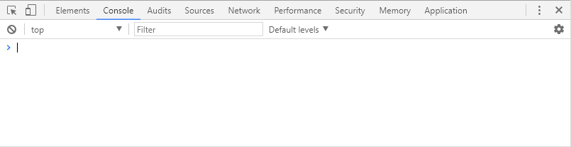 Консоль в браузере Chrome