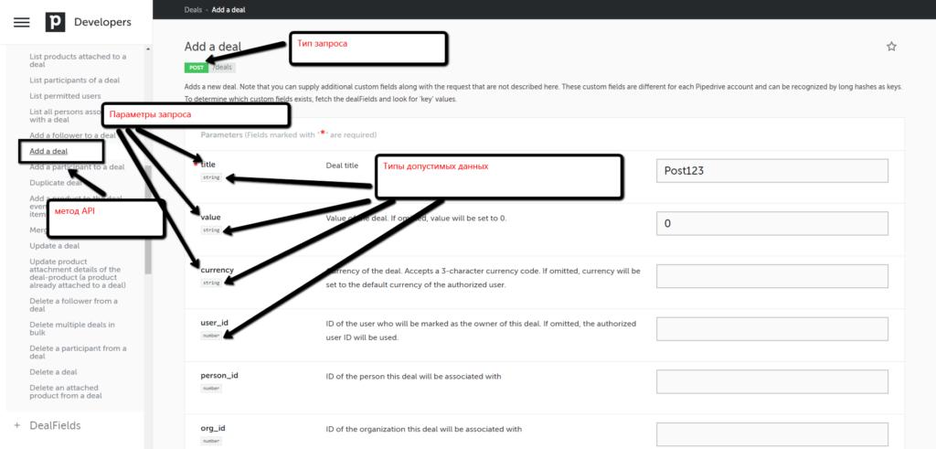 Параметры API. Разнообразные запросы.