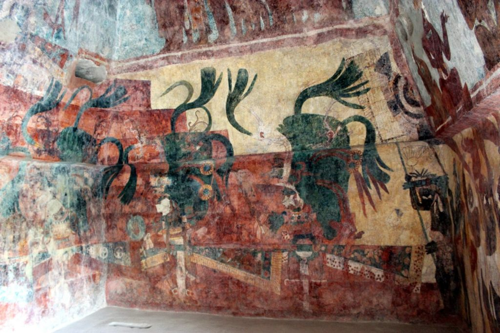 Бономпак рисунки внутри пирамиды