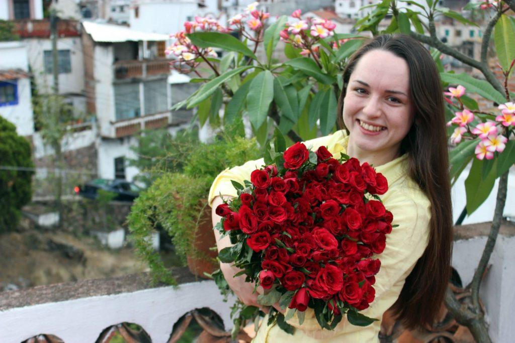 Букетик роз в Таско