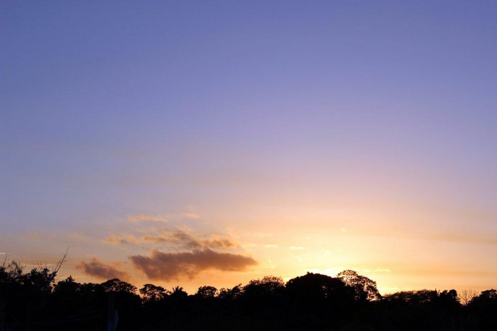 Закат над лагуной Бакалар